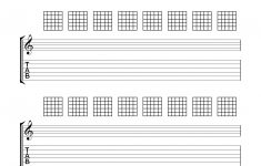 Blank Chord Sheets – Google Search | Guitar In 2019 | Pinterest – Free Printable Guitar Tablature Paper