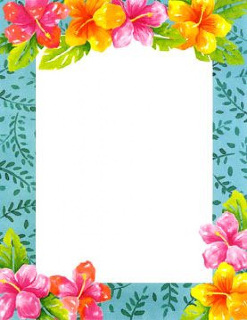 Blank Luau Invitation Borders - Google Search | Luau Party Inside - Free Printable Luau Clipart