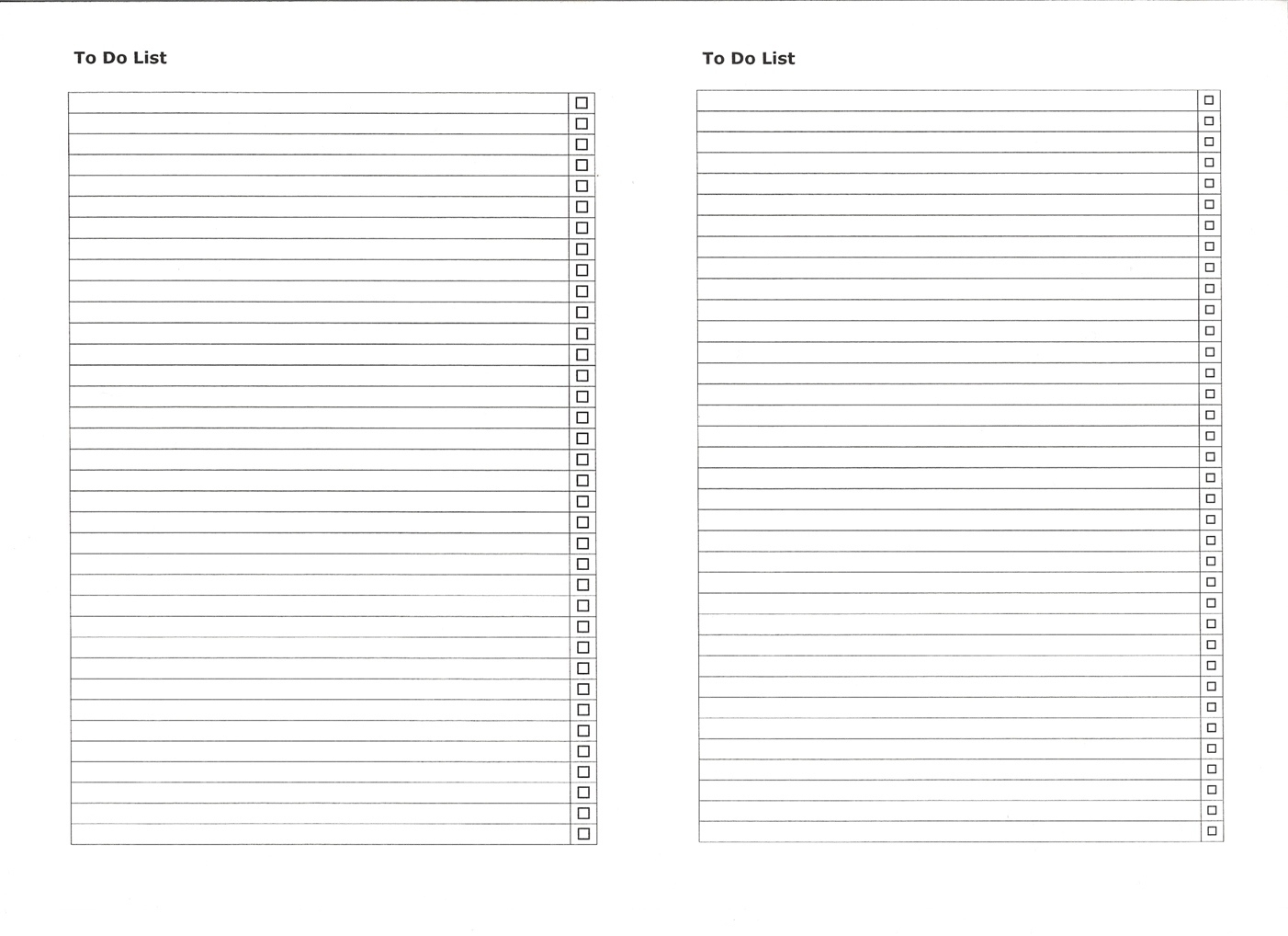 Blank Numbered List Template   List And Format Corner - Free Printable Numbered List