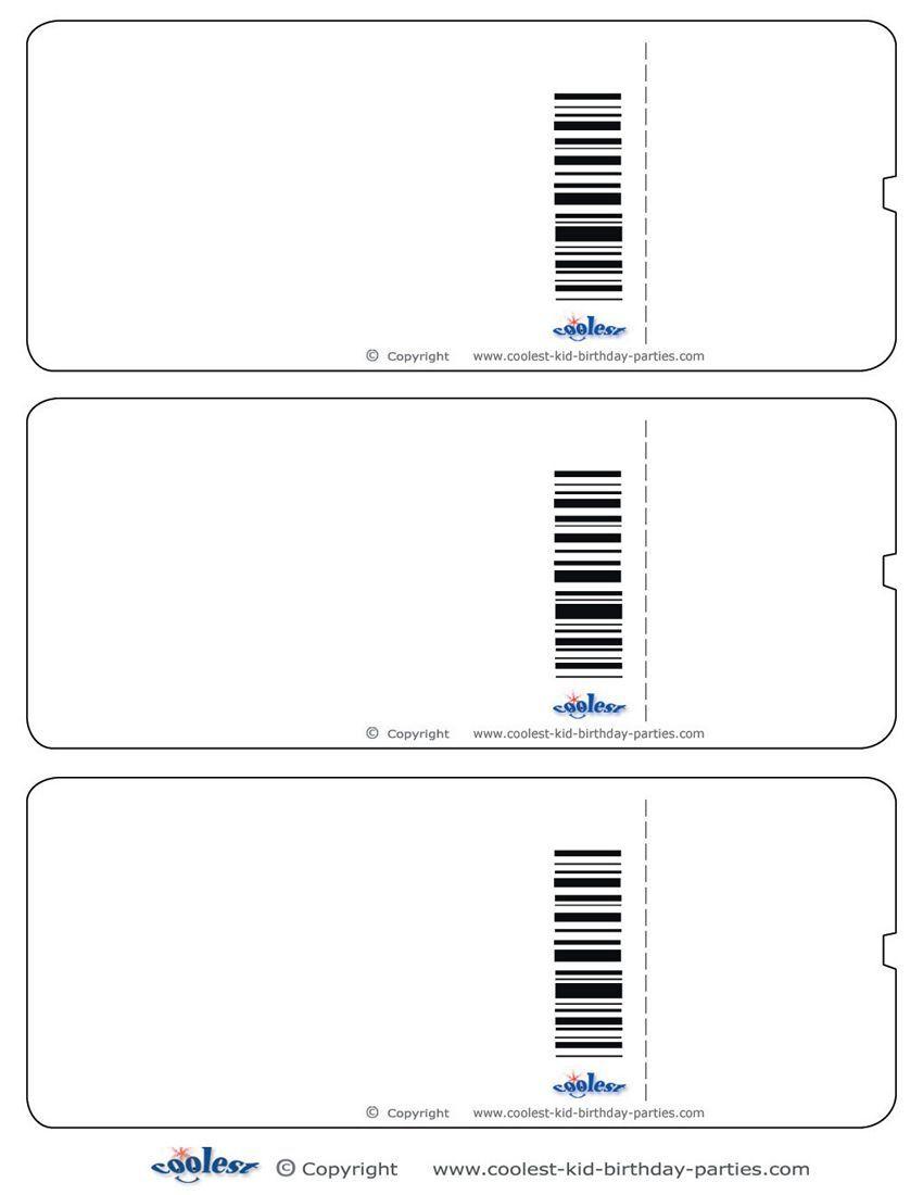 Blank Printable Airplane Boarding Pass Invitations - Coolest Free - Free Printable Airplane Template