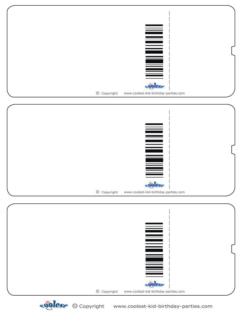 Blank Printable Airplane Boarding Pass Invitations - Coolest Free - Free Printable Boarding Pass