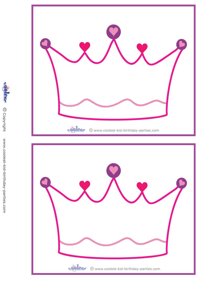 Blank Printable Crown Invitations Coolest Free Printables | Birthday - Free Printable Crown