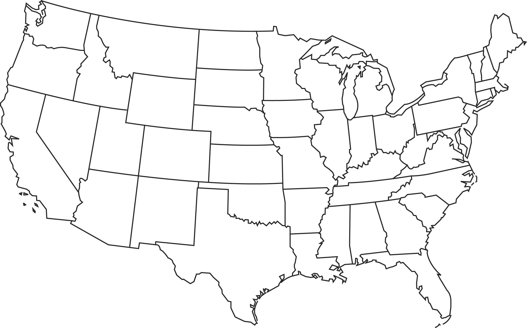 Blank Printable Map Of The Us Clipart Best Clipart Best | Centers - Free Printable Outline Map Of United States