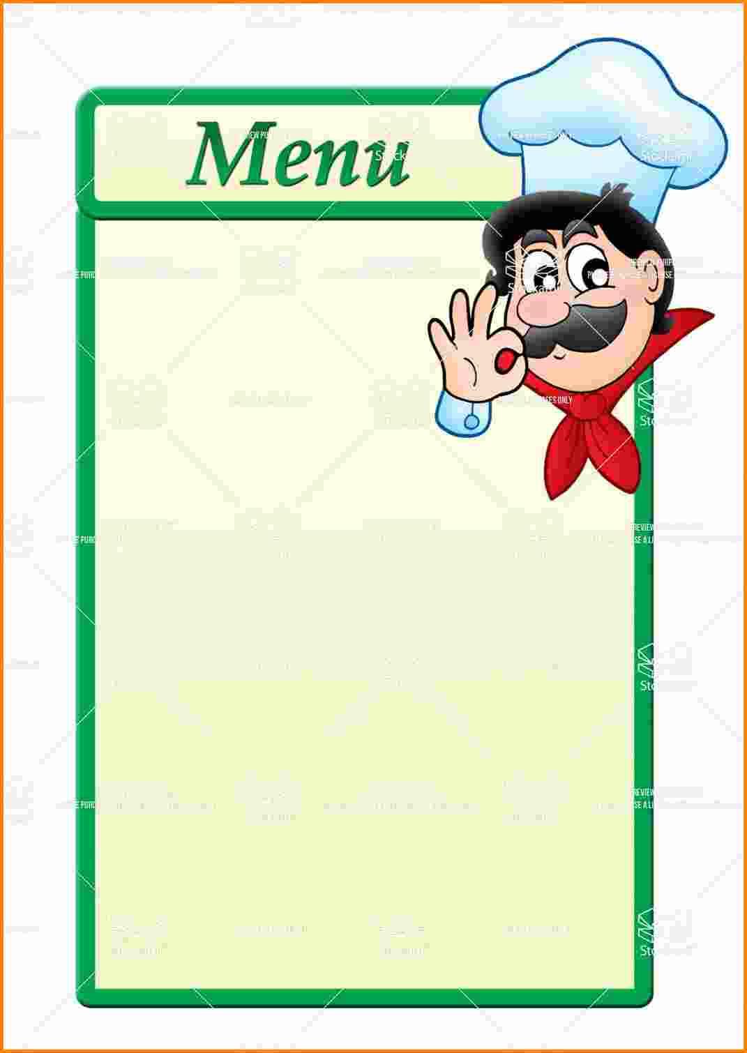 Blank Restaurant Menu | Best Template & Design Images Free Printable - Design A Menu For Free Printable