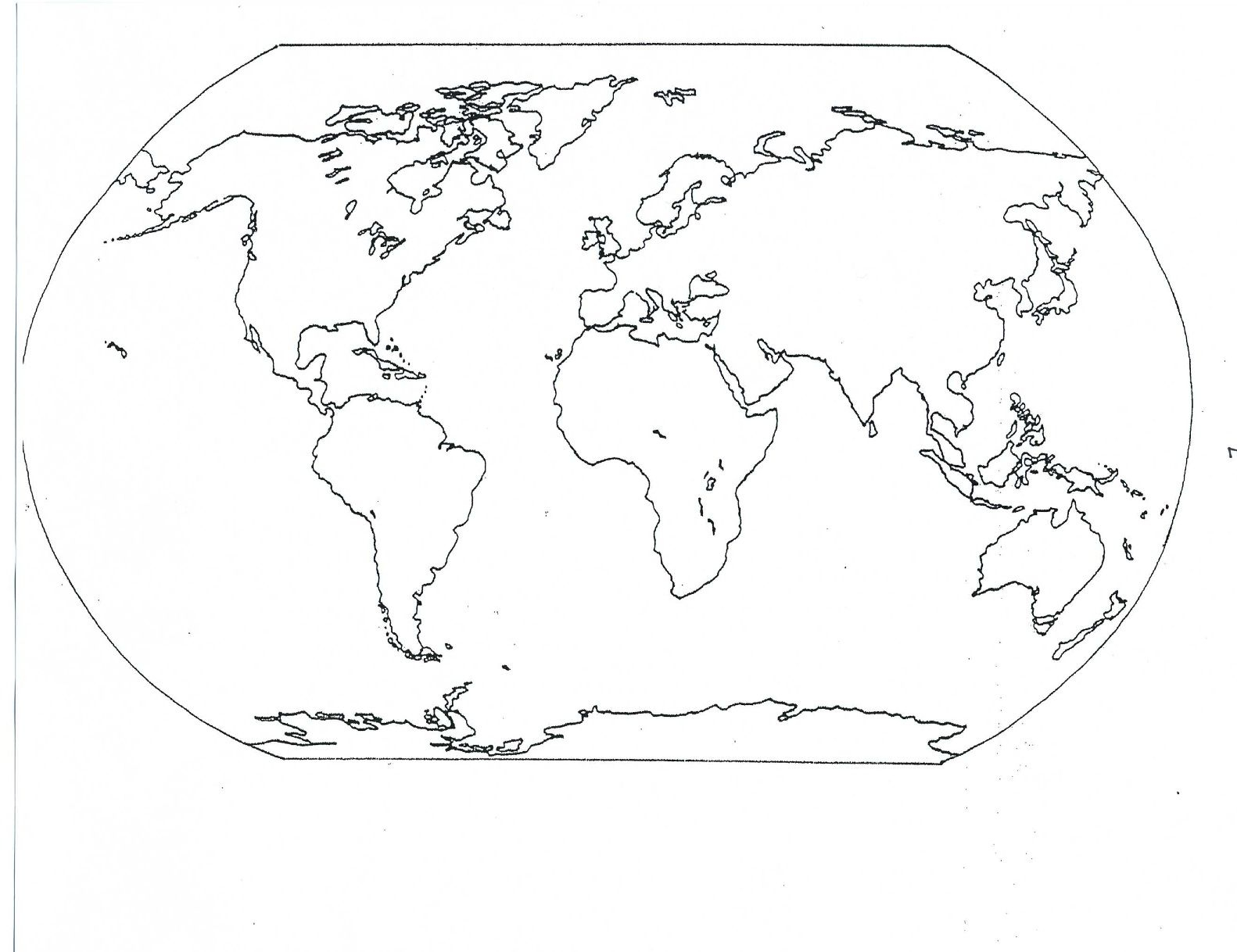 Blank Seven Continents Map | Mr.guerrieros Blog: Blank And Filled-In - Free Printable Map Of Continents And Oceans