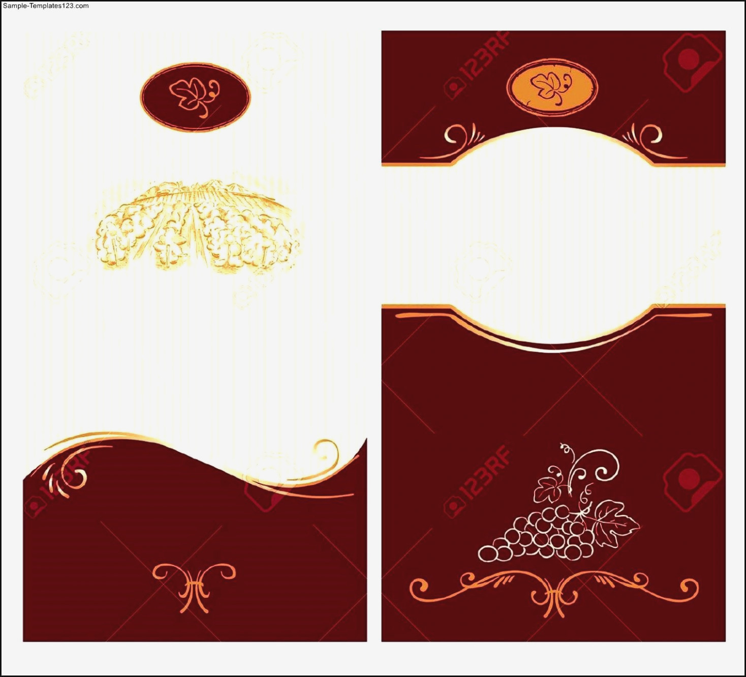 Blank Wine Label Template Sample Templates Template : Mughals – Free - Free Printable Wine Labels With Photo