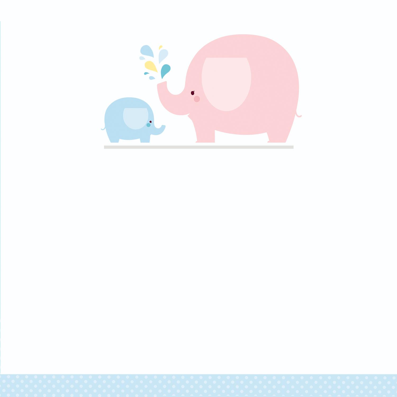 Blue Baby Elephant - Free Printable Baby Shower Invitation Template - Free Printable Elephant Baby Shower