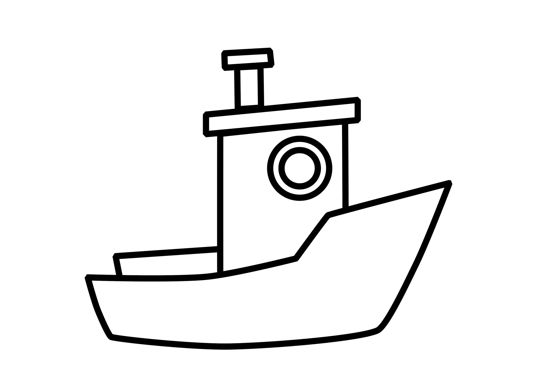 Boat Color Page Transportation Coloring Pages Color Plate Coloring - Free Printable Sailboat Template
