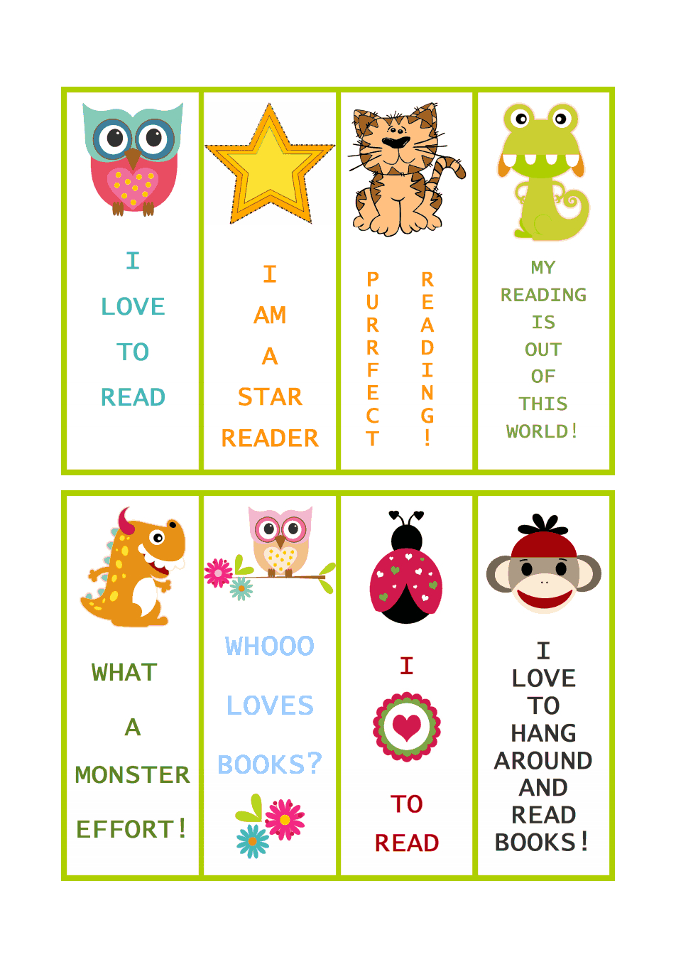 Bookmarks 1.pdf   Teacher   Bookmarks, Bookmarks Kids, Free - Free Printable Bookmarks For Libraries