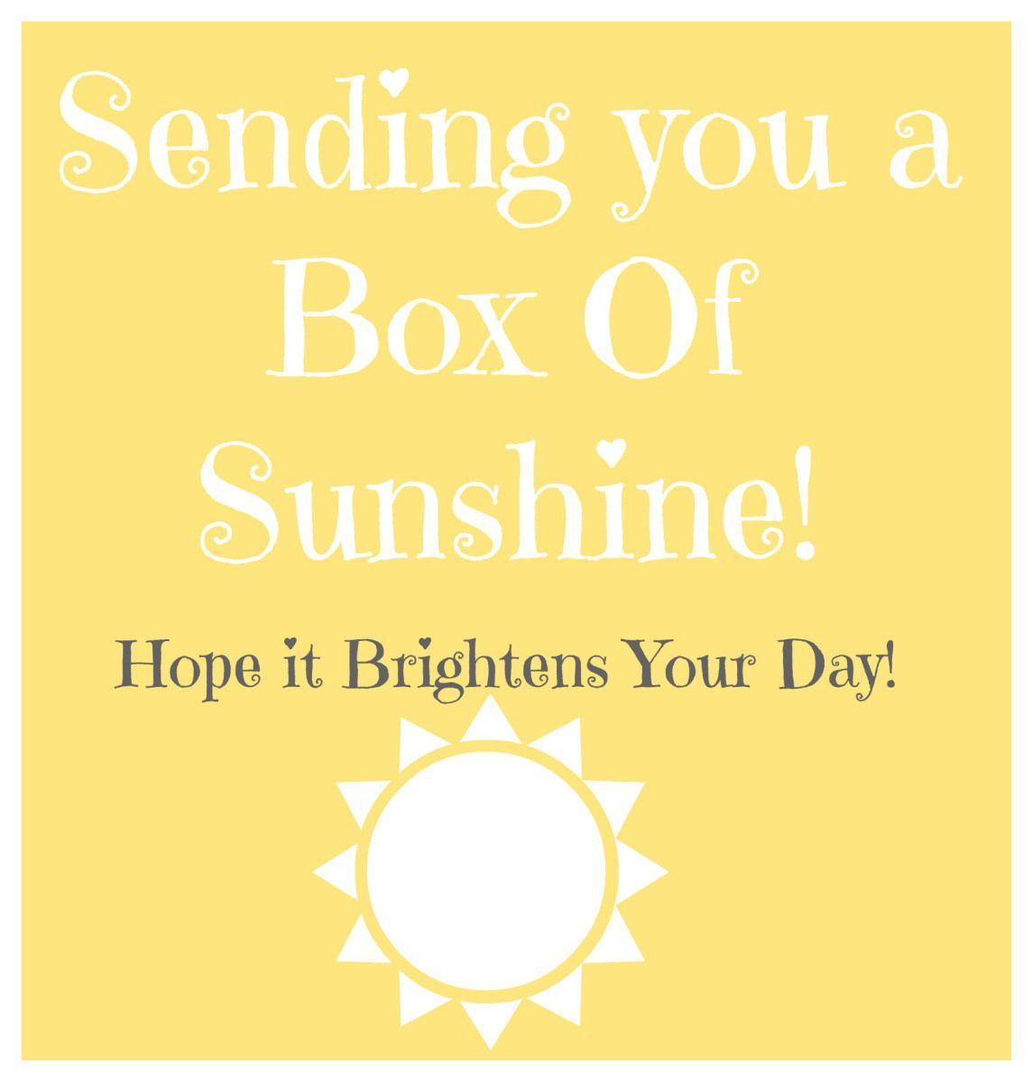 Box Of Sunshine // Free Printable // Rae Of Sparkles   Gift Ideas - Box Of Sunshine Free Printable
