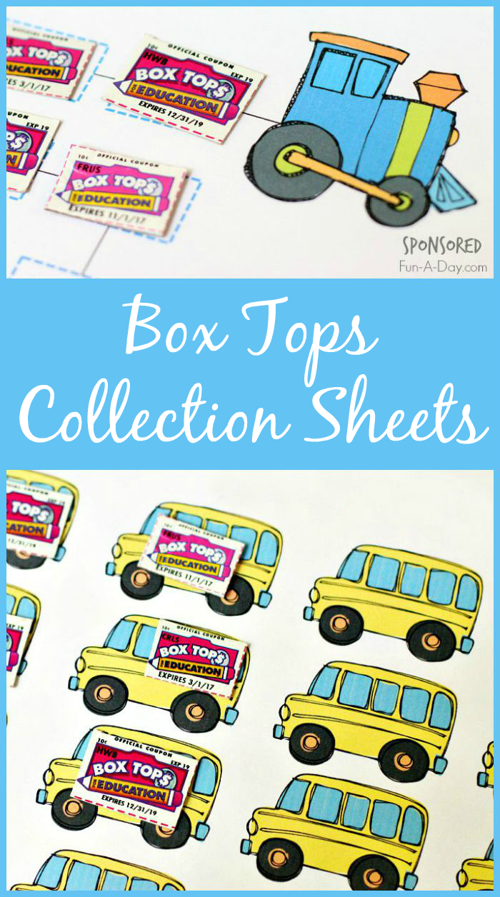 Box Tops For Education Collection Sheets - Free Printable Box Tops For Education
