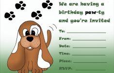 Free Printable Puppy Dog Birthday Invitations