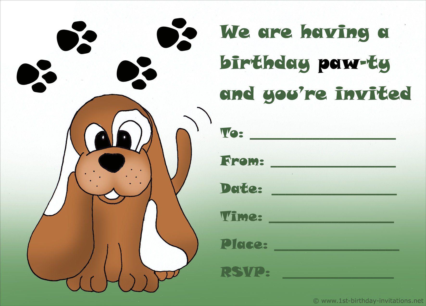 Boy-Birthday-Invitation-Cards-Free-Printable   Birthday Invitations - Free Printable Puppy Dog Birthday Invitations