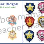 Boy Mama: Free Paw Patrol Find The Badge Printable Game   Boy Mama   Free Printable Badges