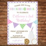 Boy Or Girl Invitation Cookies And Milk Playdate Birthday Party   Can   Play Date Invitations Free Printable