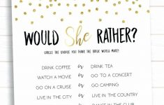 How Well Do You Know The Bride Free Printable