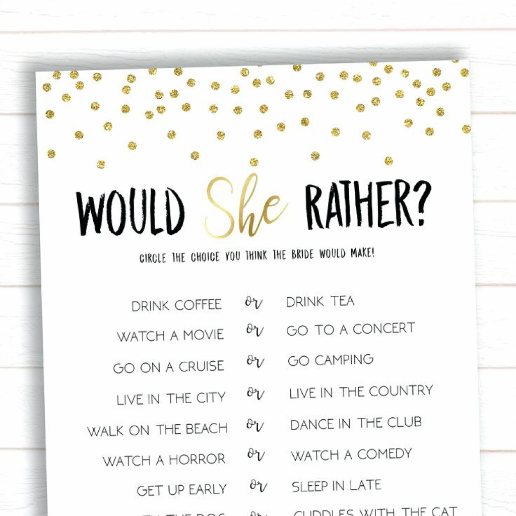 Bridal Shower Game Ideas Free Printable How Well Do You Know The - How Well Do You Know The Bride Free Printable