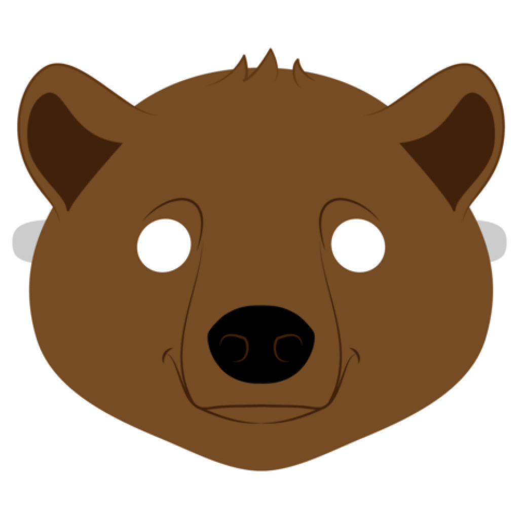Brown Bear Mask Template | Free Printable Papercraft Templates In - Free Printable Bear Mask