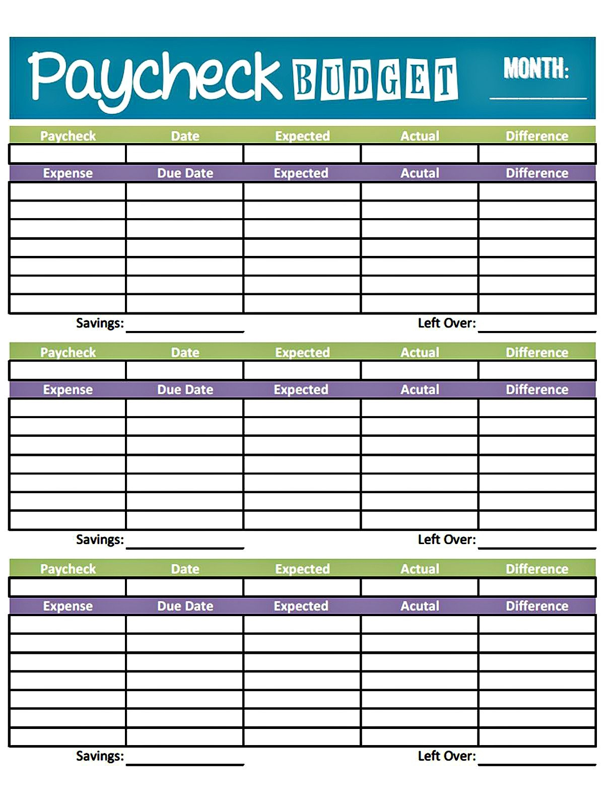 Budget Worksheet Printable | Get Paid Weekly And Charlie Gets Paid - Free Printable Bi Weekly Budget Template