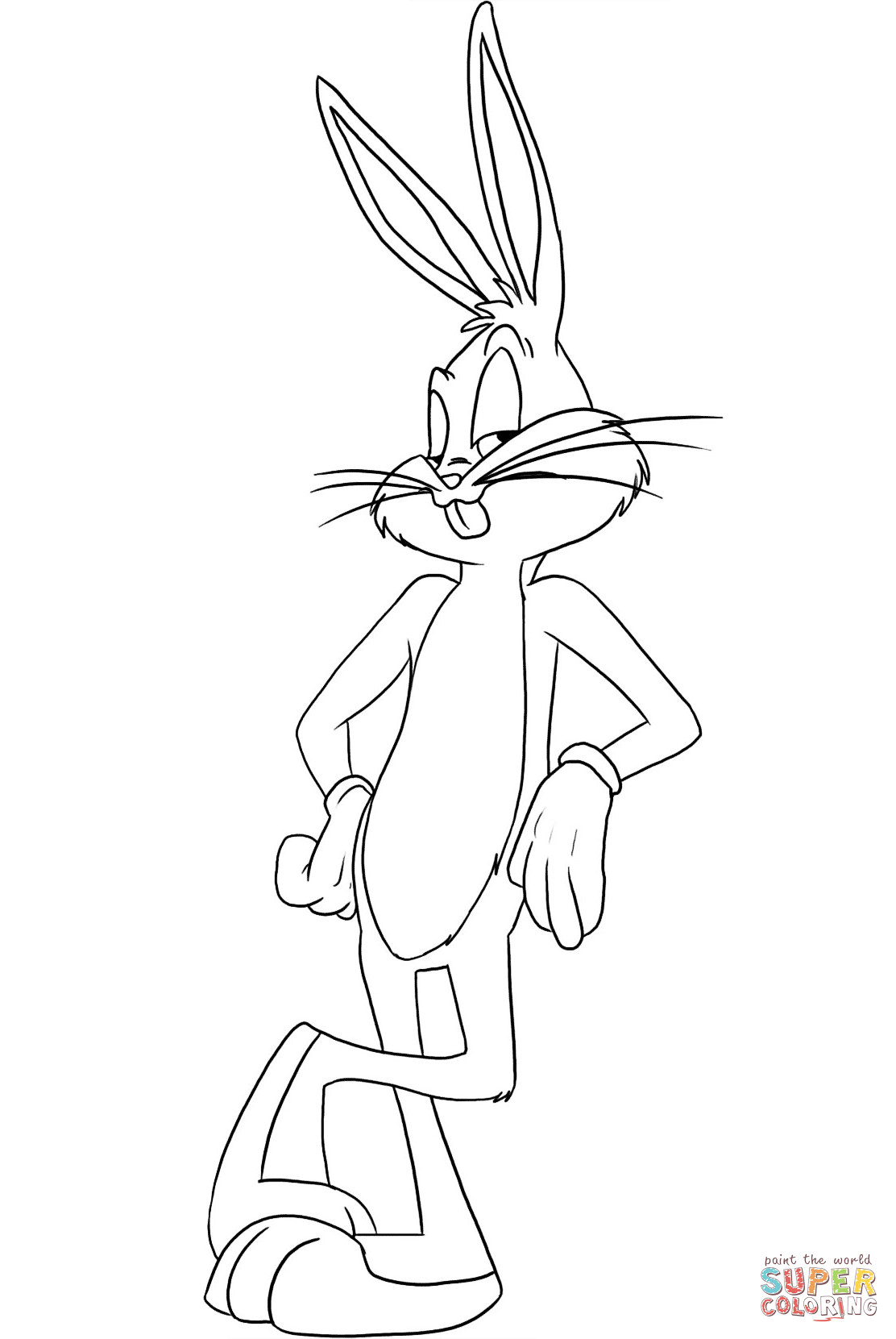 Bugs Bunny | My Art Work In 2019 | Pinterest | Bunny Coloring Pages - Free Printable Bugs Bunny Coloring Pages