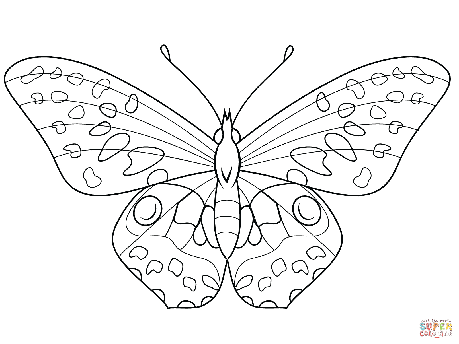 Butterfly Coloring Pages | Free Coloring Pages - Free Printable Butterfly Coloring Pages