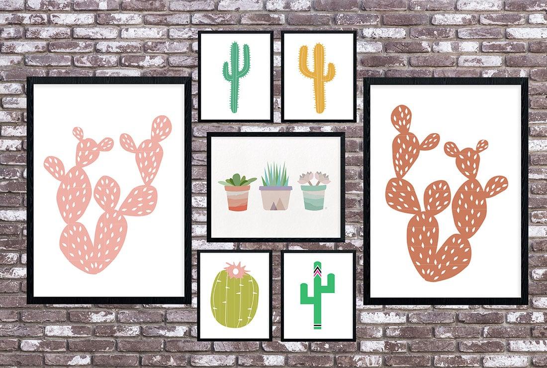 Cactus Art Roundup: 55 Awesome Free Printables • Little Gold Pixel - Free Printable Artwork To Frame
