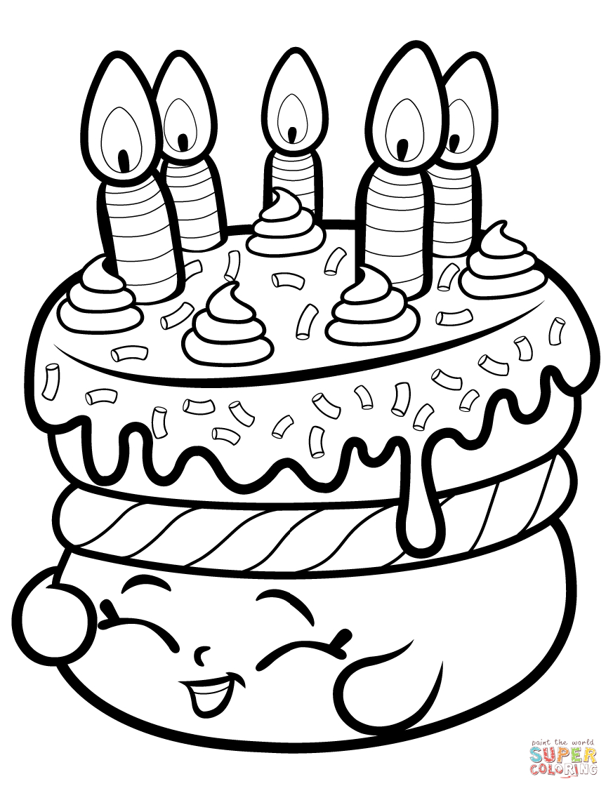Cake Wishes Shopkin Coloring Page | Free Printable Coloring Pages - Shopkins Coloring Pages Free Printable