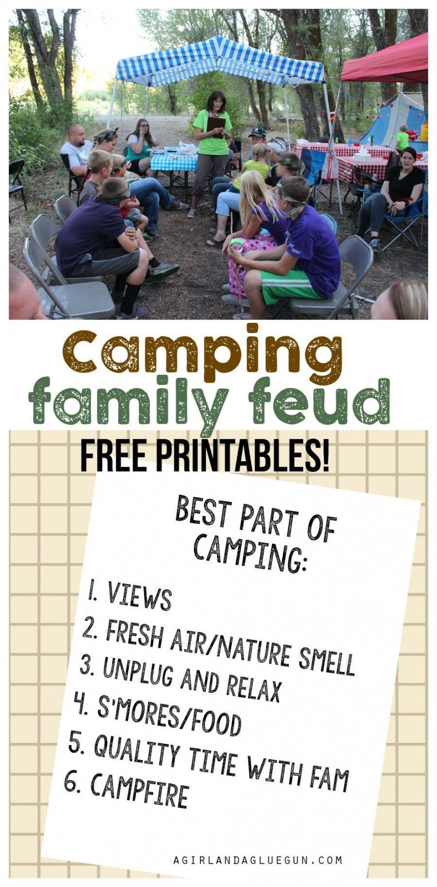 Camping Games | Camping Crap | Camping Games, Family Camping Games - Free Printable Camping Games