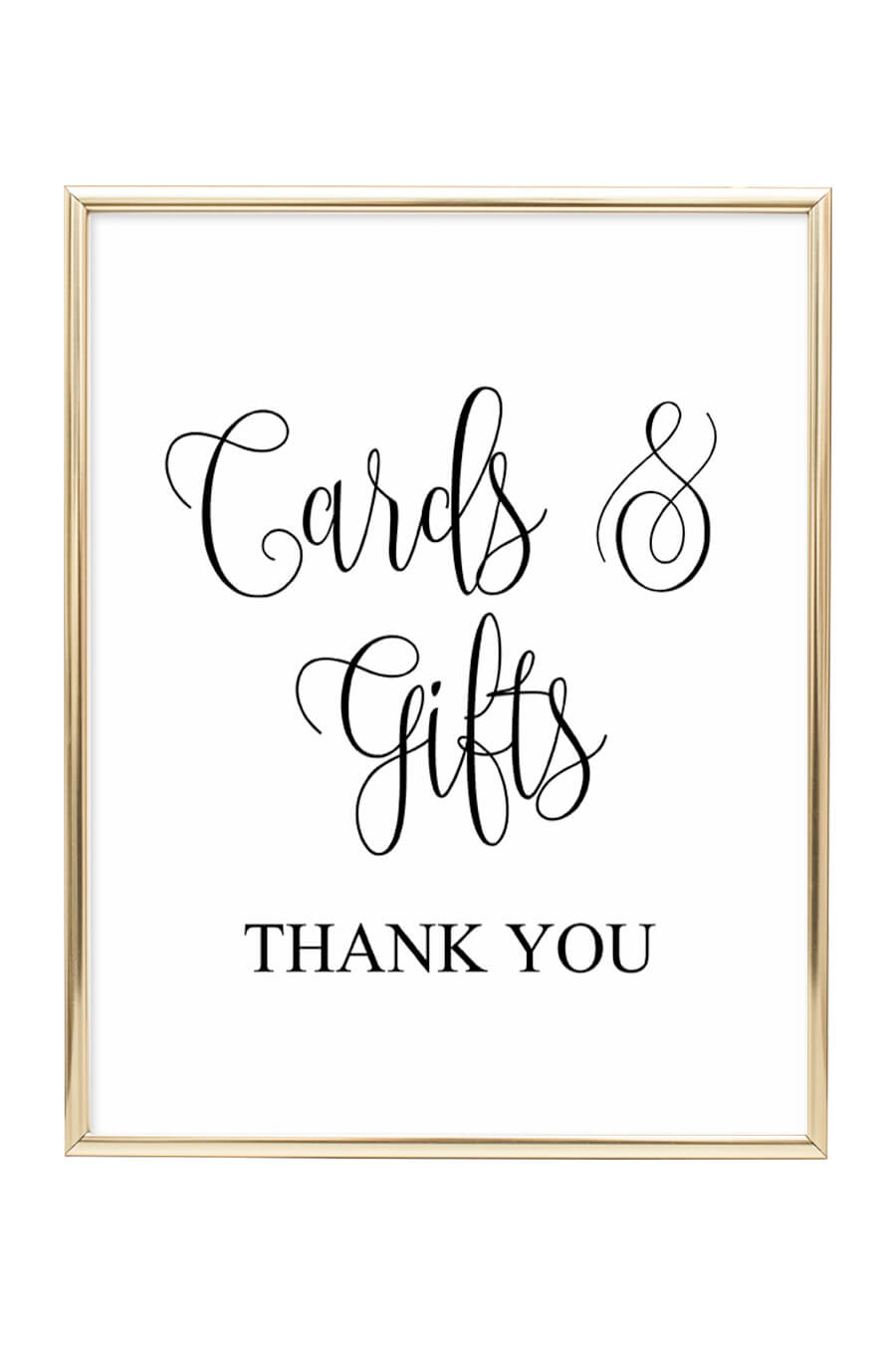 Cards And Gifts Wedding Sign - Chicfetti - Cards Sign Free Printable