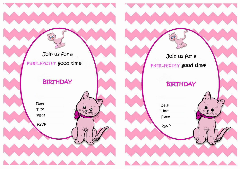 Cat Free Printable Birthday Party Invitations | Birthday Party - Free Printable Kitten Birthday Invitations