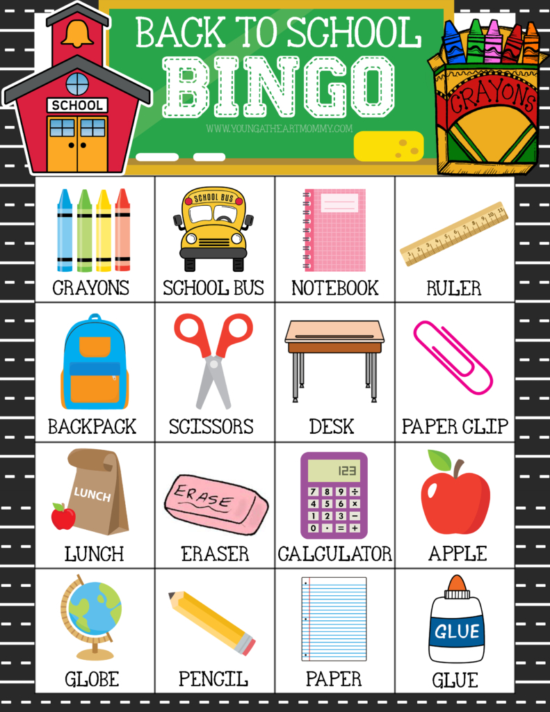 Celebrate A New School Year With Free Printable Back To School Bingo - Free Printable Back To School