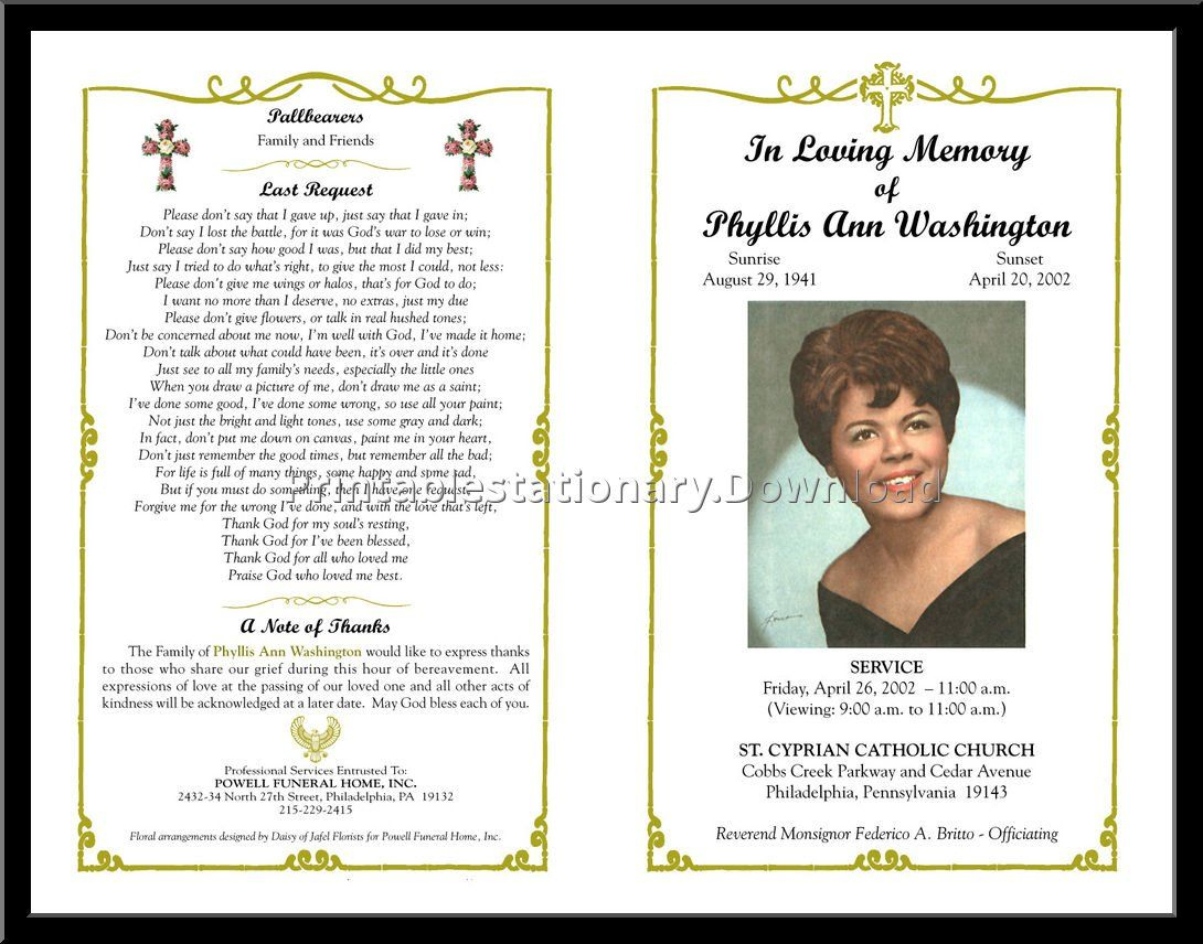 Celebration Of Life Templates For Word Free - Aol Image Search - Free Printable Memorial Card Template