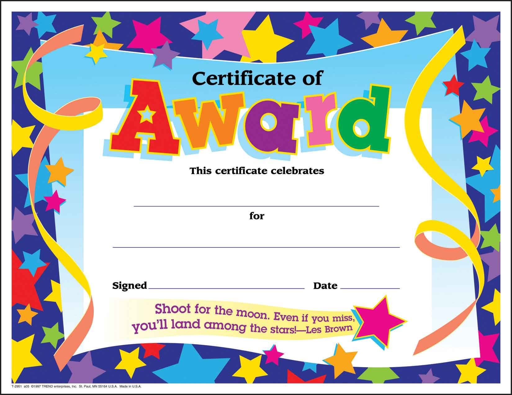 Certificate Template For Kids Free Certificate Templates - Good Behaviour Certificates Free Printable