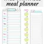 Check Out This Free Meal Planner And Grocery List Midori Insert!   Free Printable Menu Planner