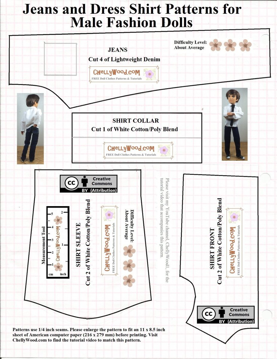 """Chelly Wood On Twitter: """"free Printable Ken #dolls Clothes #sewing - Ken Clothes Patterns Free Printable"""