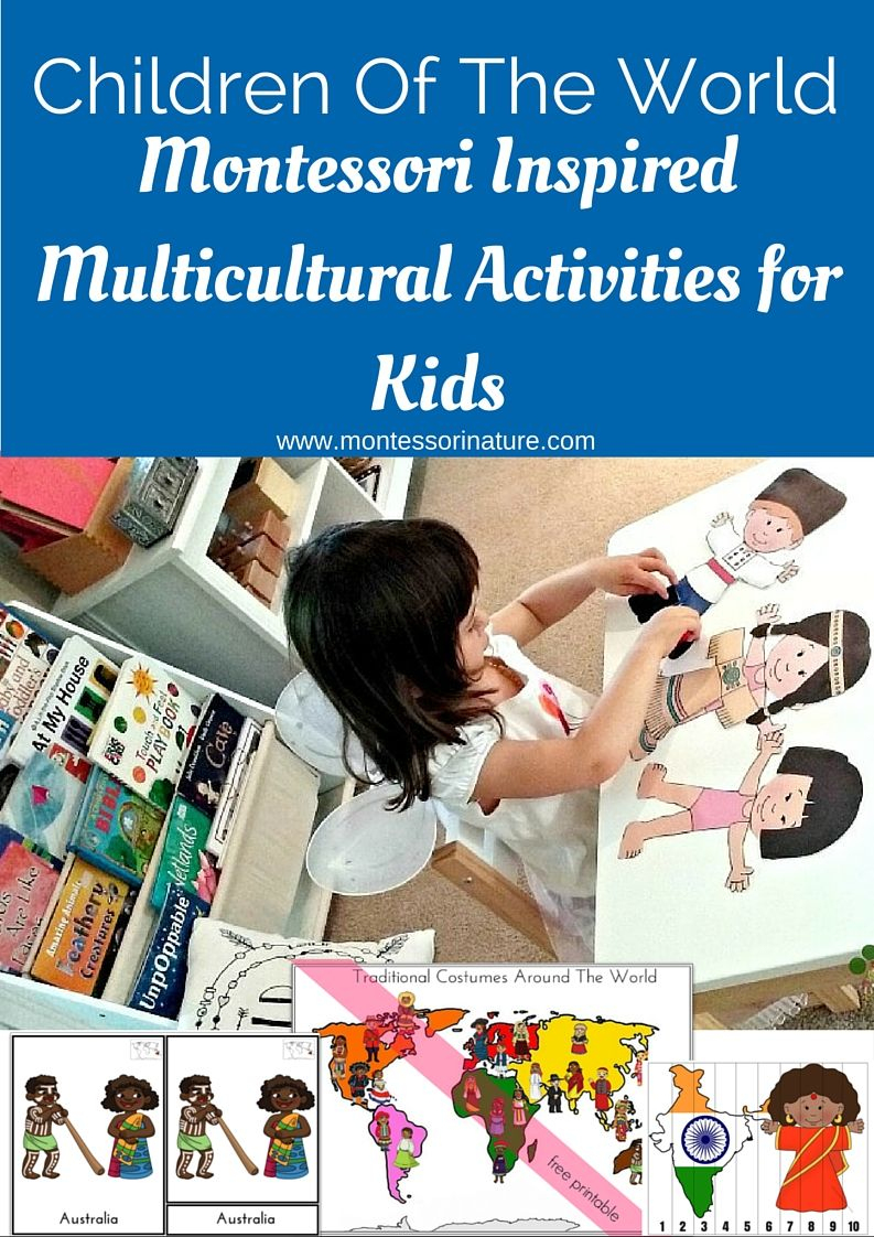 Children Of The World Multicultural Activities For Kids | Montessori - Free Printable Multicultural Posters