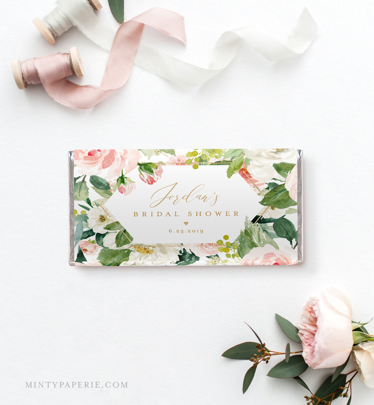 Chocolate Bar Wrapper Template, Printable Candy Bar Wrapper For - Free Printable Candy Bar Wrappers For Bridal Shower