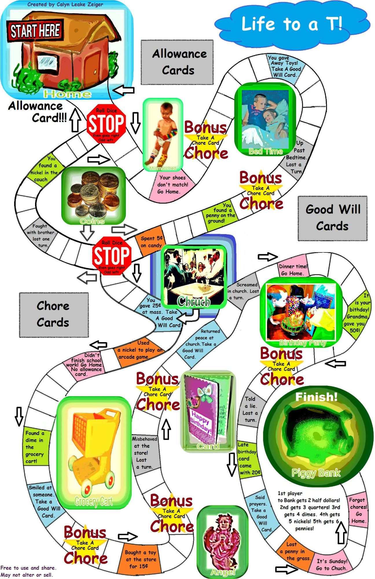 Christian Money Board Game (Printable) | Hands On Math | Pinterest - Free Printable Board Games