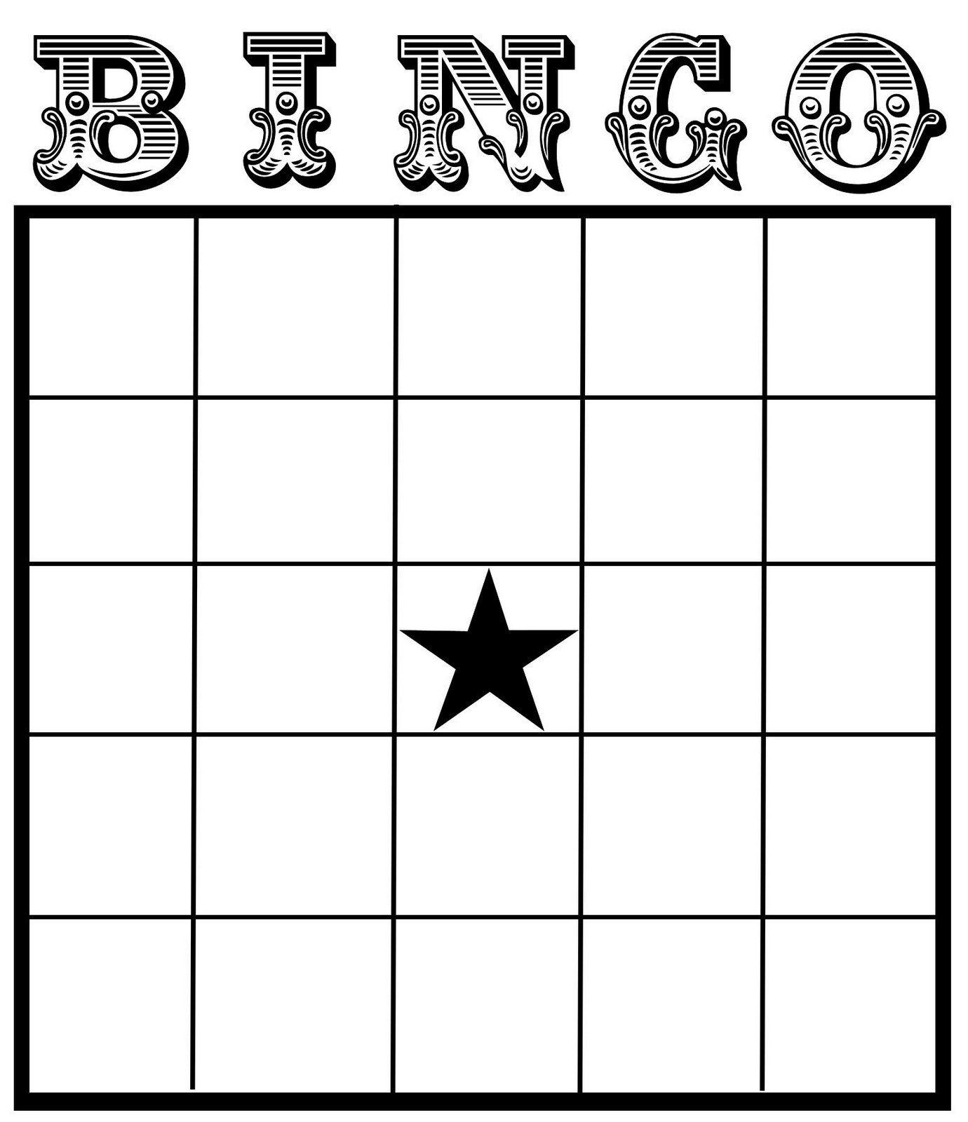 Christine Zani: Bingo Card Printables To Share | Reading & Writing - Free Printable Blank Bingo Cards