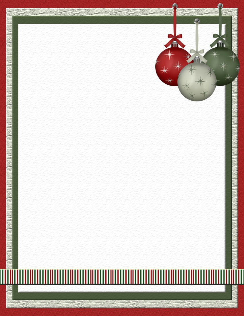 Christmas 2 Free-Stationery Template Downloads | Michelle - Free Printable Christmas Stationary Paper