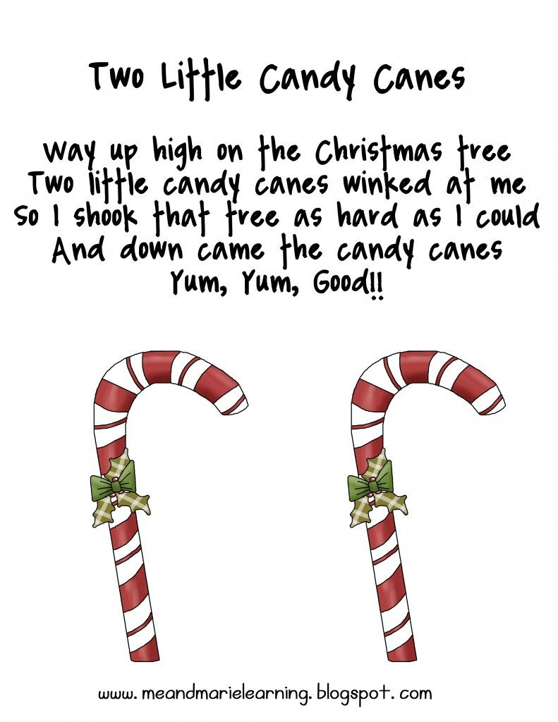 Christmas Candy Cane Poems For Preschool   New Christmas Songs - Free Printable Candy Cane Poem