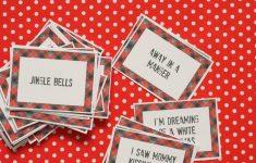 Christmas Song Lyrics Game Free Printable