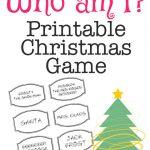 Christmas Charades Game And Free Printable Roundup! – A Girl And A – Free Games For Christmas That Is Printable