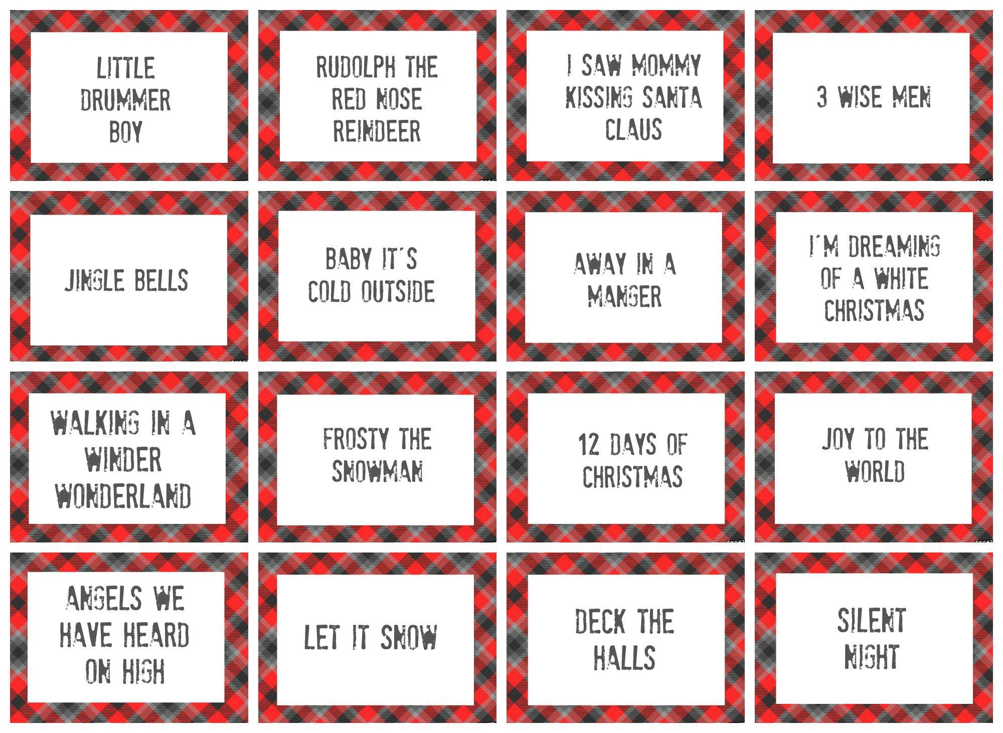 Christmas Charades Game And Free Printable Roundup | Crafting - Free Printable Charades Cards
