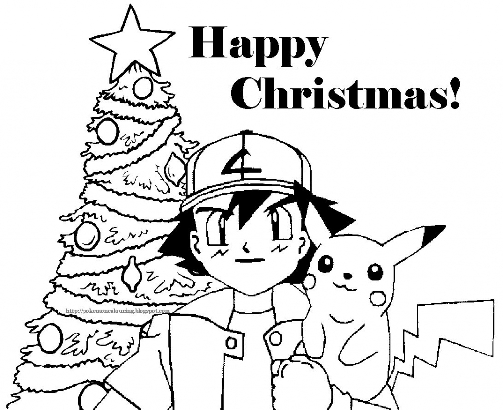 Christmas Coloring Pages | Pokemon Christmas Coloring Pictures Free - Free Printable Christmas Cartoon Coloring Pages