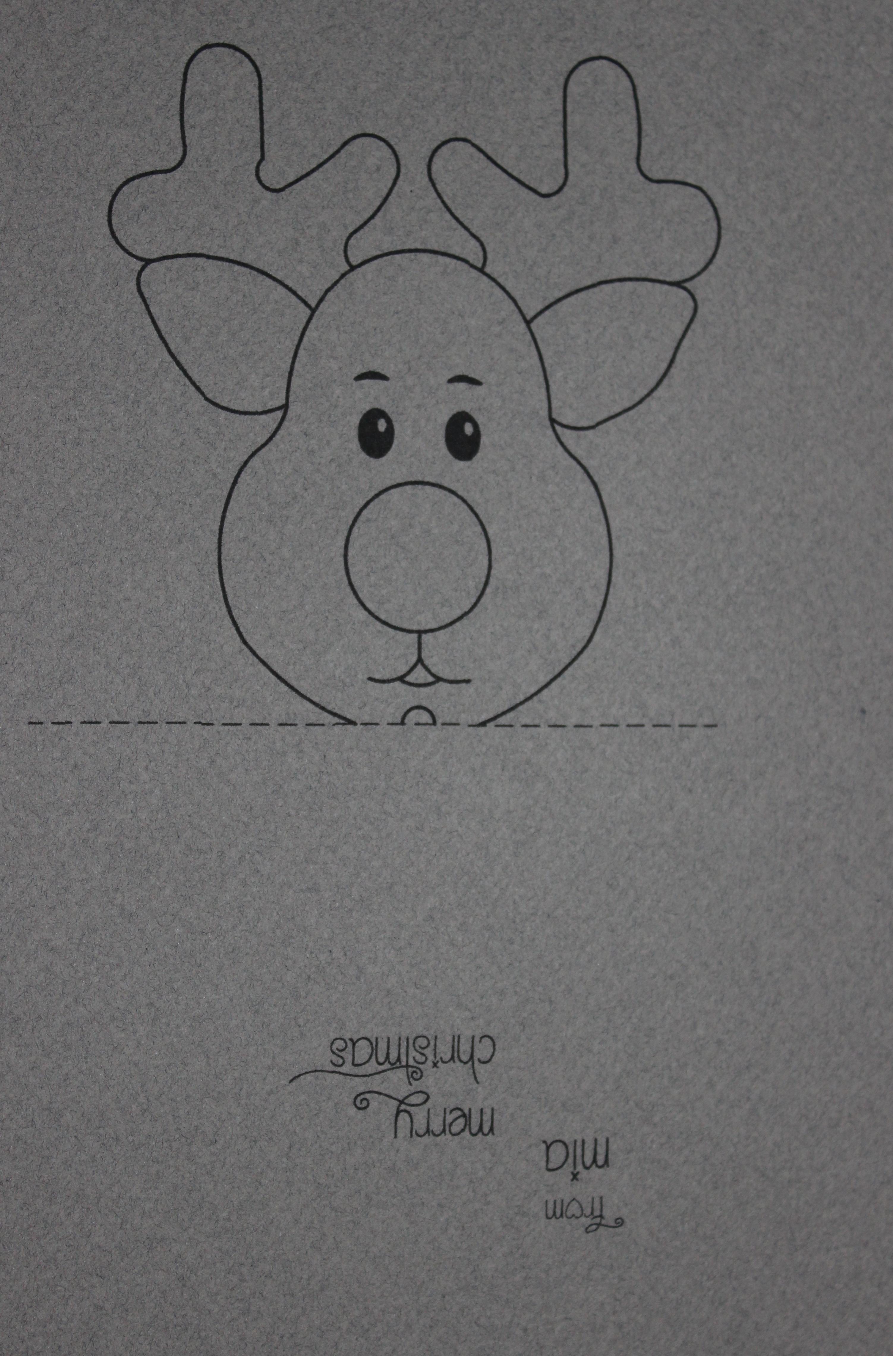 Christmas   Create It Stitchery - Free Printable Reindeer Lollipop Template