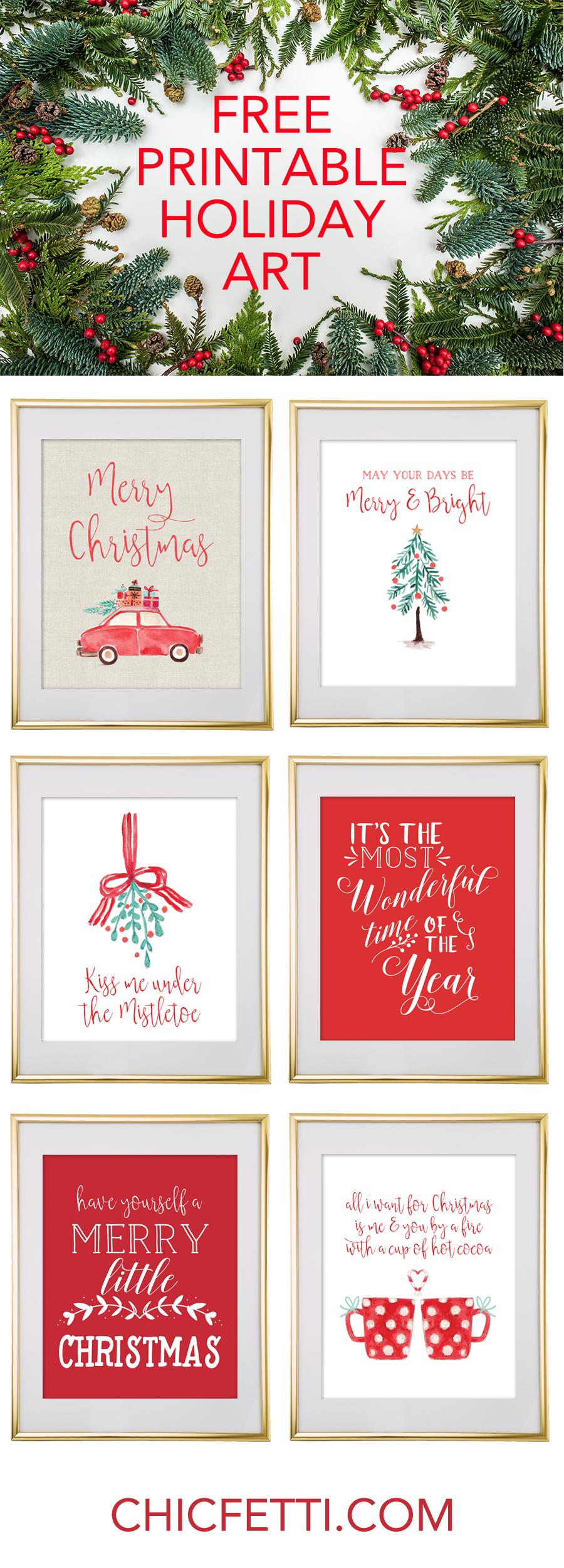 Christmas Free Printable Wall Art - Download Free Christmas Art - Free Printable Christmas Pictures