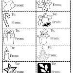 Christmas Gift Tag Printables   Mommy Moment   Christmas Gift Tags Free Printable Black And White