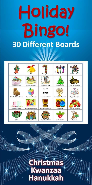 Christmas, Hanukkah, Kwanzaa Bingo Game | Super Amazing Pins - Kwanzaa Trivia Free Printable