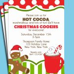 Christmas Hot Cocoa And Cookies Invitation Printable Or Printed With   Free Printable Cookie Decorating Invitations